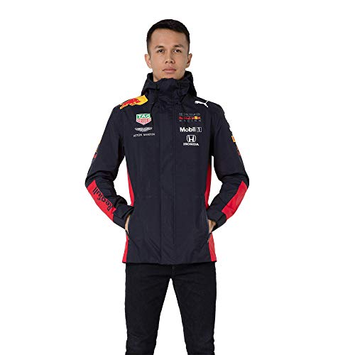 Red Bull Racing Official Teamline Rain Jacket, Hombres X-Small - Original Merchandise