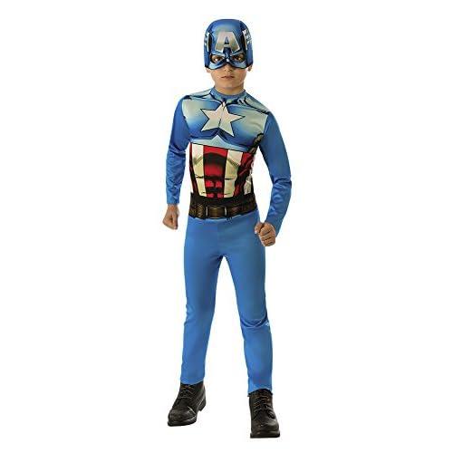 Rubie's- Costume Capitan America OPP Bambini (610759-L), Multicolore