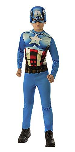 Avengers - Disfraz de Capitán América para niño, talla infantil 3-4 años (Rubie'S 610759-S)