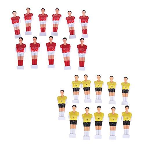 D DOLITY Premium Jugadores de Fútbol de Mesa para Reemplazar Muñecas de Football Men de Futbolín Color Rojo y Amarillo