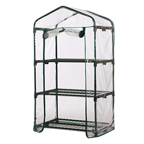PVC-Mini-Gewächshausfolie, transparente Abdeckung für Gewächshäuser (Rahmen ist nicht im Lieferumfang enthalten).