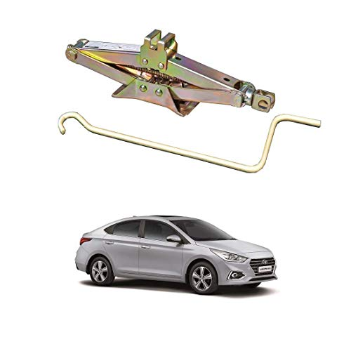 AYW (ALL YOU WANT) Golden Iron Car Vehicle Lift Jack for Verna Fluidic