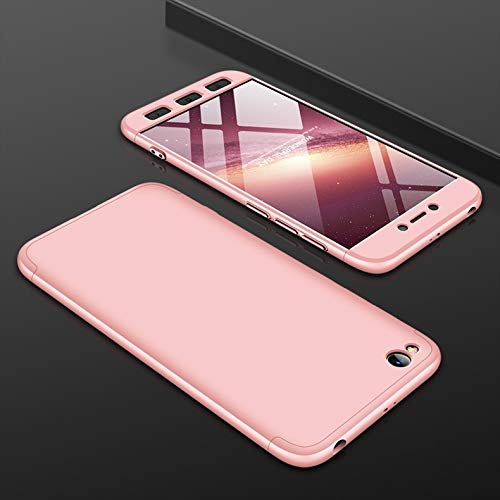 Cubierta de Repuesto para teléfono móvil, Tres teléfono móvil Etapa de Cobertura Completa de Empalme Trasero Protector Duro del PC Carcasa Cubierta for Xiaomi redmi Go (Color : Rose Gold)
