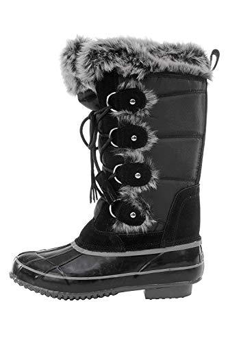 sporto Women's Sleigh Ride Snow Boot (9 B(M) US, Black)