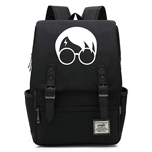 NYLY Jugend Rucksack leichte wasserdichte Oxford Tuch Rucksack Harry Potter Avatar Tasche Unisex Große Schwarz B