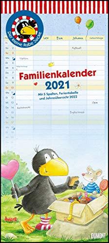 Der kleine Rabe Socke Familienkalender 2021 – Wandkalender – Familienplaner mit 5 Spalten – Format 22 x 49,5 cm