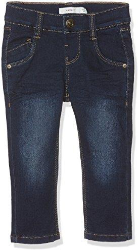 Name It Nittax Reg/Slim DNM Pant Mini Noos Jeans, Gris (Dark Blue Denim), 80 Bébé garçon