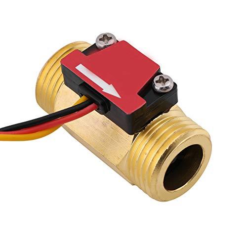 Magnético industrial, integración 1-25L/min termostático calentador de agua medidor contador de flujo con metal
