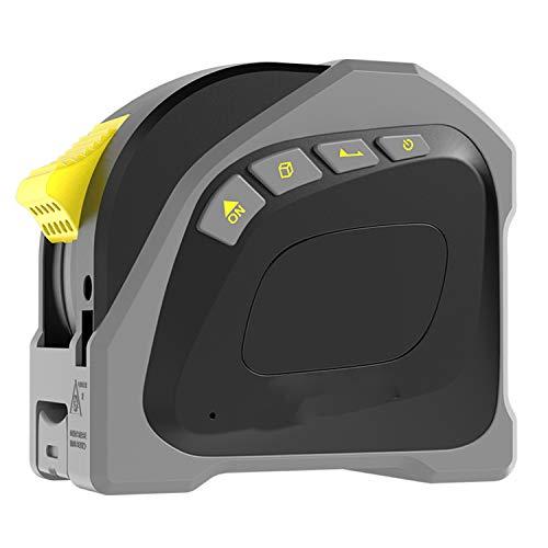 Misuratore di Distanza Laser Digitale, Misura Laser 131Ft / 40M, Metro a Nastro 5M / 16Ft, Strumento di misurazione del Nastro Laser per misurare Area/Volume/pitagorico,Black