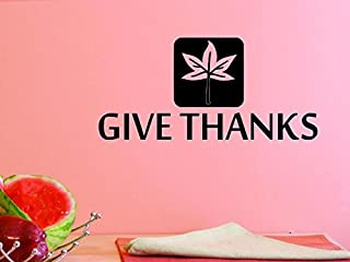 Design with Vinyl US V JER 2778 3 Top Selling Decals Give Thanks Wall Art 20
