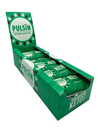 Pulsin Healthy Snack Natural Plant Based Vegan Free From Mint Choc Chip Keto Bar 18x50g