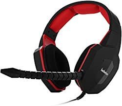 Stereo Gaming Headset for PS4 Xbox one PC USB Gaming Headphones for Xbox 360 PS3 with Detachable Microphone (Red)