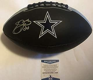 Emmitt Smith Autographed Signed Full Size Dallas Cowboys Football Beckett Bas Coa