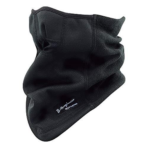 おたふく手袋 ボディタフネス 発熱防風 保温 ハーフフェイスウォーマー ブラック JW-125