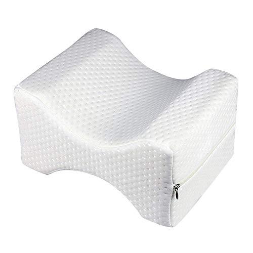 Kniekissen, ideal für Hüfte, Rücken, Beine, Knieschmerzen, Seitenschläfer, Schwangerschaft und rechte Wirbelsäule, Schaumstoffkontur mit waschbarem Bezug