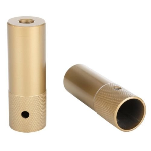 PAIR CHUNKY GOLD BMX BIKE STUNT PEGS GRINDING FREESTYLER TRICK NUTS SUIT 10mm or 14mm AXLE,110 LONG