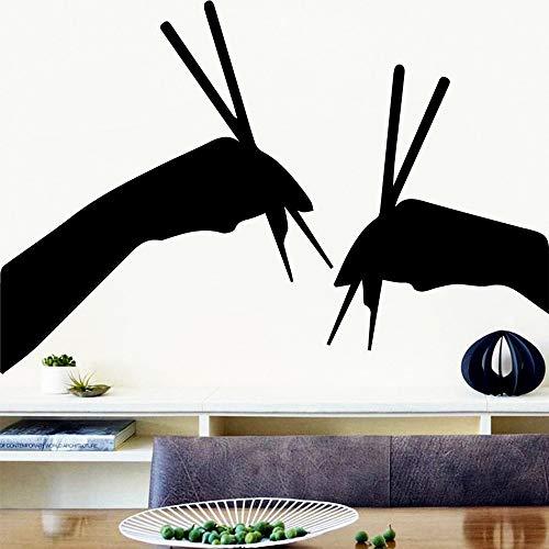 sanzangtang Cartoon Stil stäbchen Aufkleber wandaufkleber küche Zimmer wandkunst Poster Dekoration Sushi Restaurant Aufkleber 30x44 cm