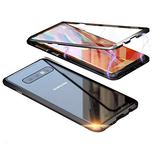 Galaxy Note 8 Case,Shinetop Ultra Slim Magnetic Adsorption Case Metal Frame Front and Back Tempered Glass Flip Cover [Support Wireless Charging] Full Body Protective Case for Samsung Galaxy Note 8