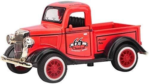 YLJJ Coches a Escala Pickup Truck Juguete clásico Coche Fundido a Troquel Juguetes de vehículo Tire hacia atrás con Coches de Luces y Sonidos Regalo para Dar los Regalos a su Familia o Amigos