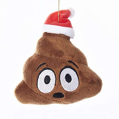 Kurt Adler Emoticon Poo Plush Christmas Ornament