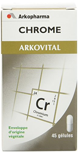 Arkopharma - Arkovital - Contribue au maintien d'une glycémie normale - Vitamines/Minéraux Chrome - Flacon de 45 Gélules