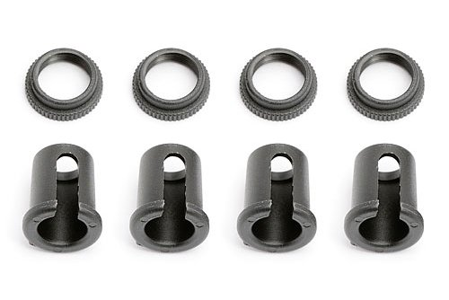 Team Associated AE4661 Shock Collars and Cups, Construction Fonctionnelle et Accessoires