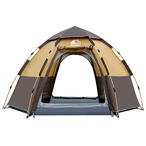 Hewolf Waterproof Instant Tents for Camping - 2-3 Person Easy Quick Setup Dome Pop up Family Tent