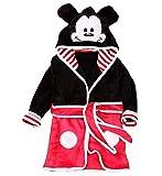 Bata de Bata - Pijama - Noche - Forro Polar Suave - niños - Personajes - con Capucha - Talla 110 - Mickey Mouse 3/4 años - Mouse - Idea de Regalo Original