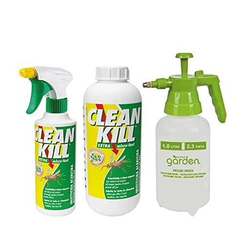biokill Set insetticida Ecologico- bio Kill antiparassitario No Gas 500 ml - Ricarica bio Kill antiparassitario No Gas 1 lt più Guanto da Lavoro Multiuso