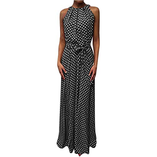 Best Price! COPPEN Women Dress Halter Neck Boho Floral Print Sleeveless Casual Backless Maxi Dresses...