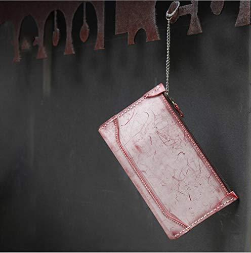 MYMAO 01Wallet rundleer lange portemonnee retro handgemaakte groente gelooid envelop tas clutch tas mist wax dames portemonnee