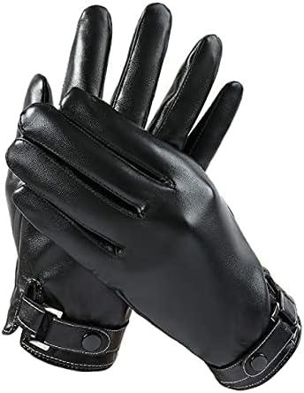 UKKO Winter Gloves Men's Gloves Black Winter Mittens Keep Warm Touch Screen Windproof Driving Male Autumn Winter Gloves