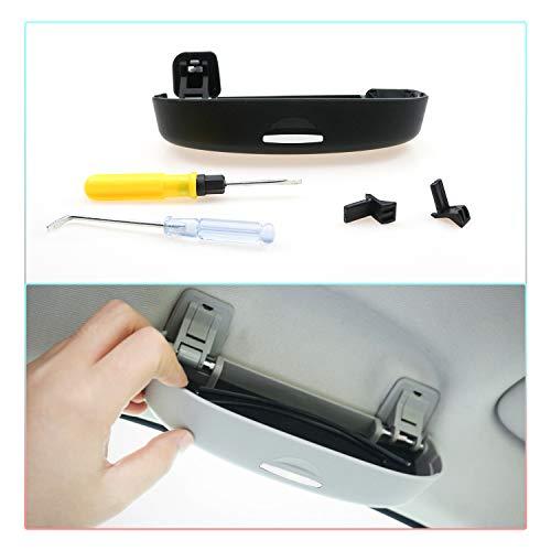 CDEFG Sonnenbrillenhalter Brillenetui für Honda HR-V Civic CRV Accord Auto Brillenhalter Auto Glasses Case Holder Brillenetui Käfig (Schwarz)