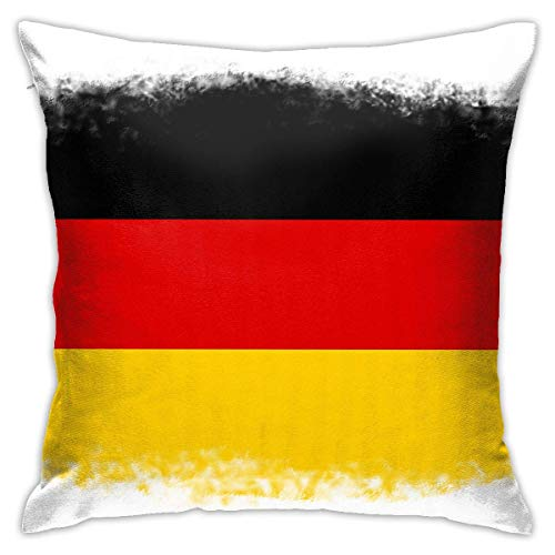 lucies Belgium Flag Black Yellow Red (2) Throw Pillow Case Soft Cushion Cover 18 X 18 Inch Decorative Pillowcases Modern Square Pillow Case Home Car Decoration