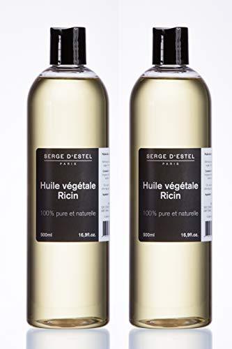 Huile de Ricin 1L. Première Pression à Froid 100% Naturelle Pure Végétale. Aide à la repousse des cheveux Soin de la barbe. Fortifiant Naturel pour Ongles Cils. Non testé sur les animaux.