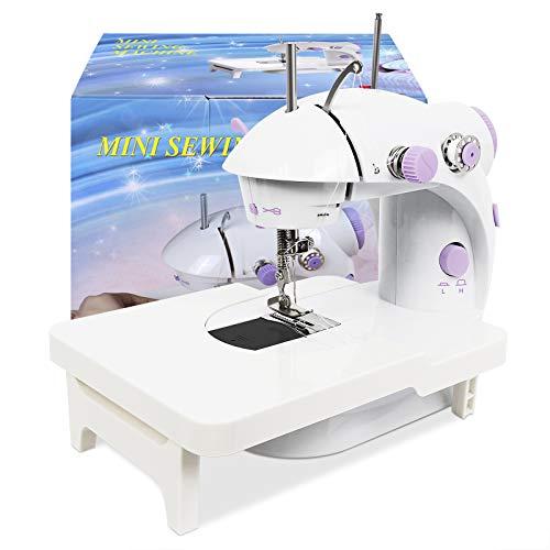 Signstek Mini Máquina de Coser Portatil y Versátil con Gran Mesa de Costura, Fácil de Usar y Práctica