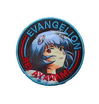 Japan Anime Evangelion Rei Ayanami Patch Embroidered Decorative Patch