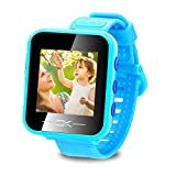 binteng toys for 4-8 year old kids smart watch for kids smartwatch with camera pedometer usb charging kids watches games best christmas birthday gifts for boys girls (light blue)