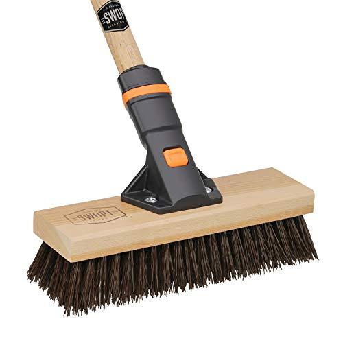10″ SWOPT Premium Rough Surface Deck Brush – 60″ Comfort Grip Wooden Handle