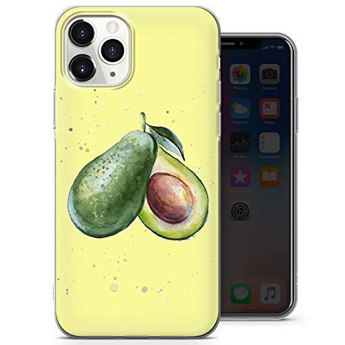 Funda para teléfono compatible con iPhone 6+, iPhone 6s+, iPhone 6 Plus, iPhone 6s Plus, iPhone 6s Plus – Delgado Delgado Suave TPU Silicona Bumper Linda Aguacate (Verde Amarillo) – Diseño 4 – A29