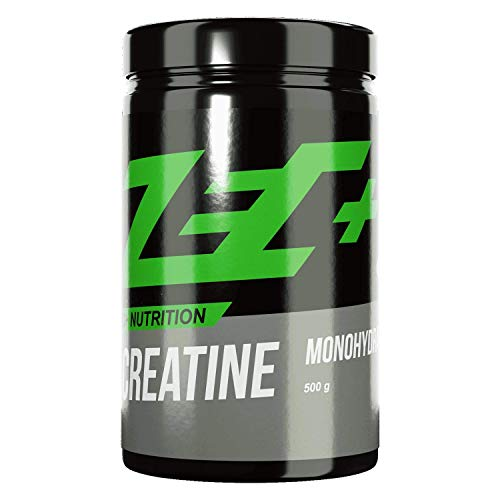 Zec+ Creatine Monohydrat Pulver, 500 g reines Creatin, zur Erhöhung der körperlichen Leistung bei Schnellkraft- und Krafttraining, Made In Germany