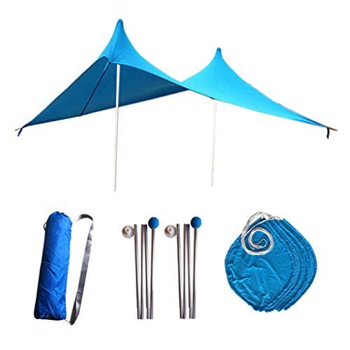 B Baosity Sombrilla para Playa Grande + Juego de Montaje para Surf Tomar Sol - Azul
