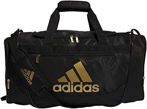 adidas Defender III Medium Duffel Bag, Black Gold, One Size