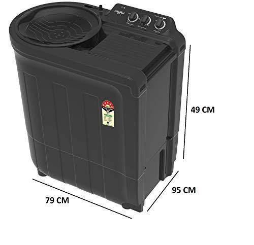 Whirlpool 7.5 Kg 5 Star Semi-Automatic Top Loading Washing Machine (ACE 7.5 SUPREME, Grey Dazzle) 3
