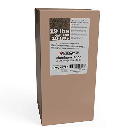 #80 Aluminum Oxide - 19 LBS - Medium to Fine Sand Blasting Abrasive Media for Blasting Cabinet or Blasting Guns.
