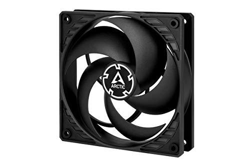 ARCTIC P12 PWM PST - 120 mm PWM PST Gehäuselüfter optimiert für statischen Druck, Case Fan mit PST-Anschluss (PWM Sharing Technology), 200-1800 U/min. - Schwarz/schwarz