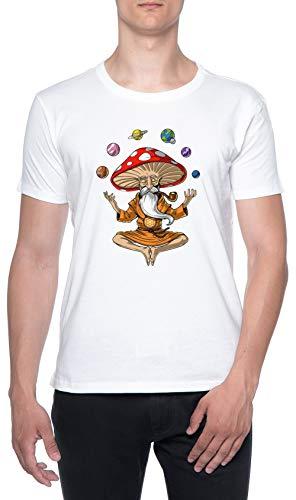 Seta Buda Blanco Hombre Camiseta Mangas Cortas Tamaño XXL Mens T-Shirt White Size XXL