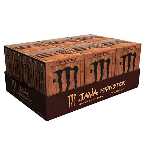 Monster Energy Java Monster Loca Moca, Coffee + Energy Drink, 11 Ounce (Pack of 24)