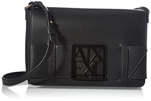 ARMANI EXCHANGE Susi Medium Shoulder Bag, Borsa shoWLDER Donna, Nero, Taglia Unica