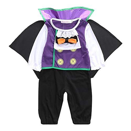 XIONGDA Disfraces de Halloween Cosplay del bebé de Vestir Preciosas Vampiro Diablo Mono Pijamas Pretend Juego de la Ropa del Juego del bebé de los Mamelucos de 3-18 Meses,XL
